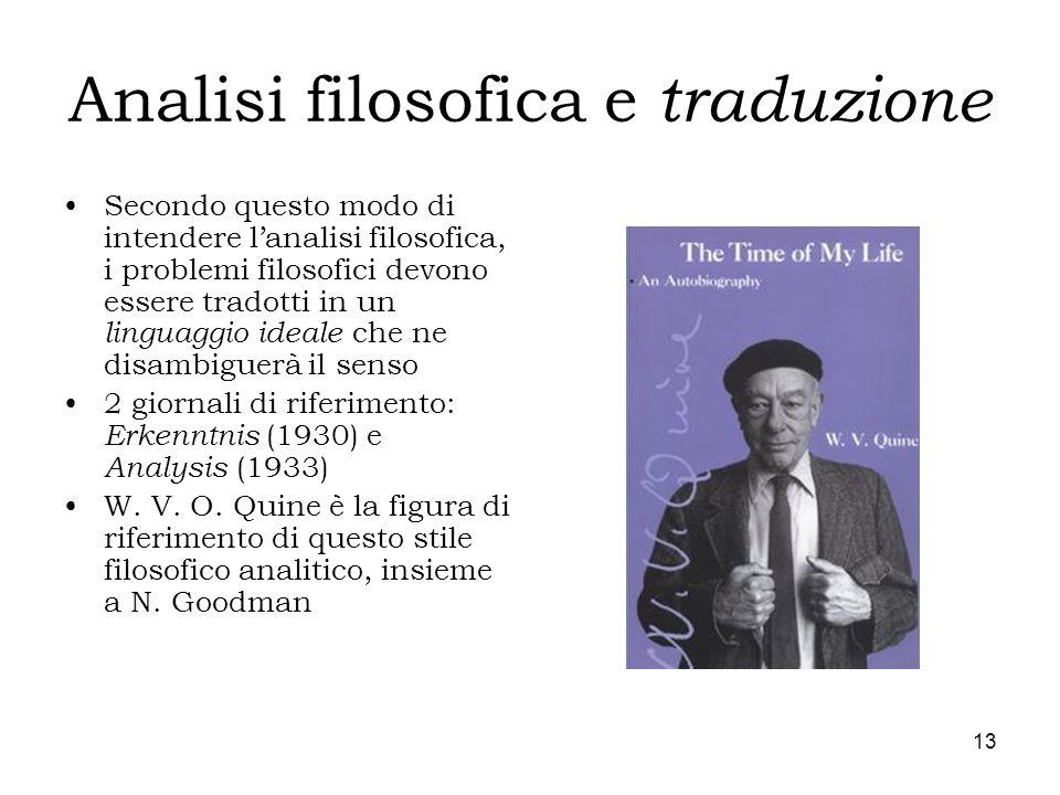 Analisi filosofica e traduzione
