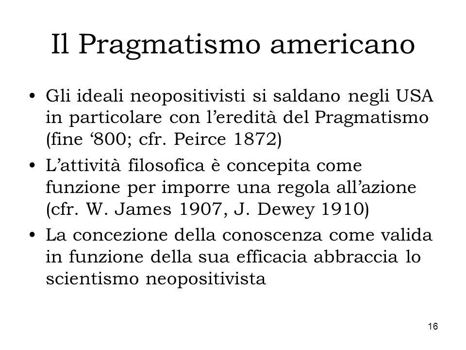 Il Pragmatismo americano