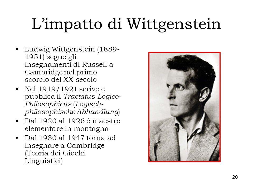 L'impatto di Wittgenstein