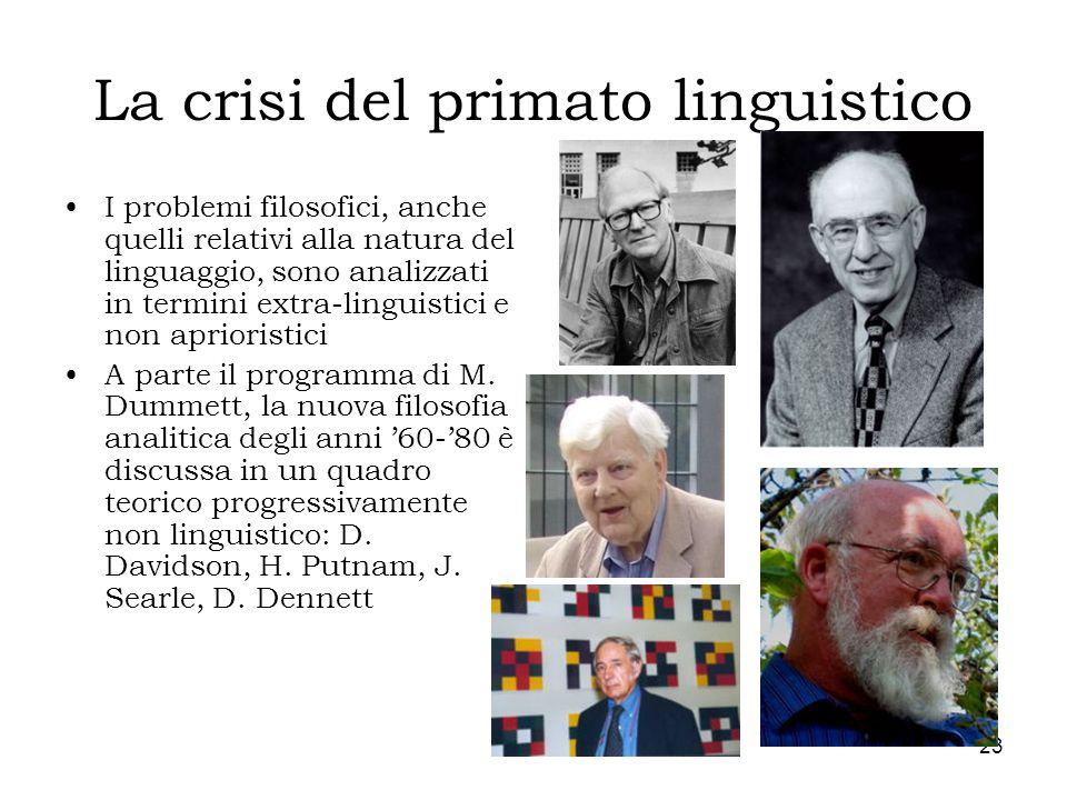 La crisi del primato linguistico