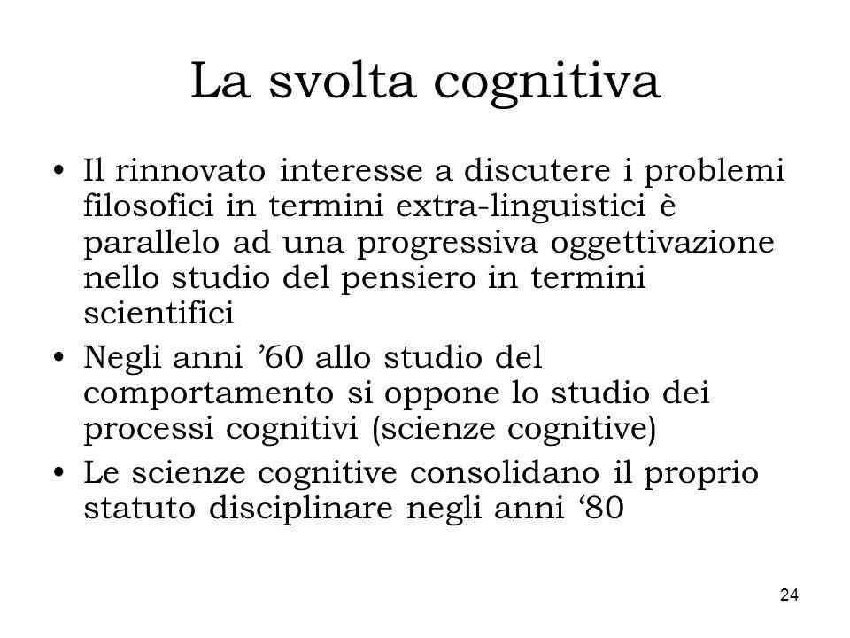 La svolta cognitiva