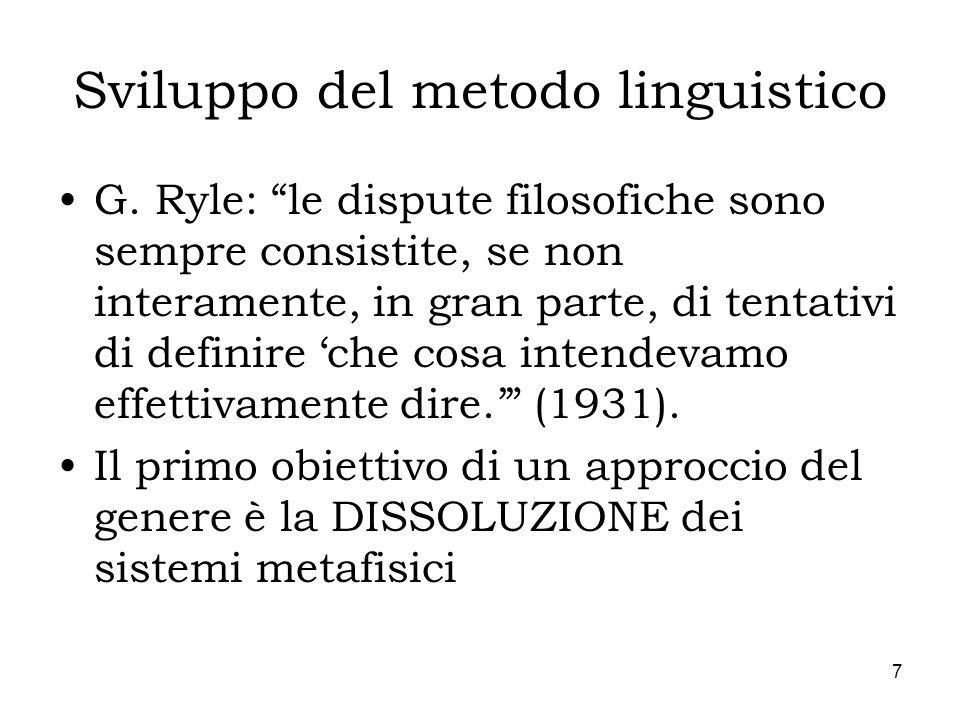 Sviluppo del metodo linguistico