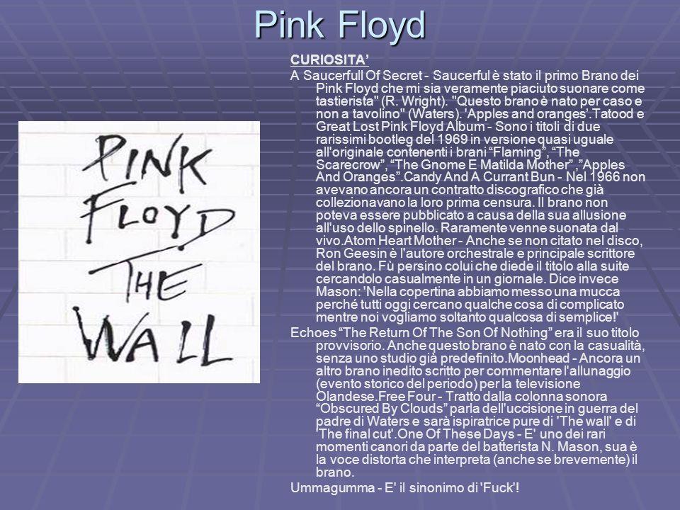Pink Floyd CURIOSITA'