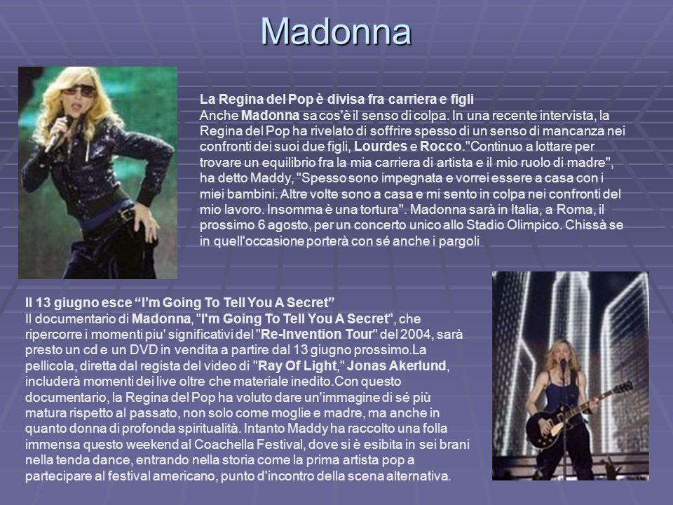 Madonna La Regina del Pop è divisa fra carriera e figli