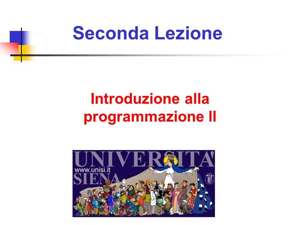 Introduzione alla programmazione ll