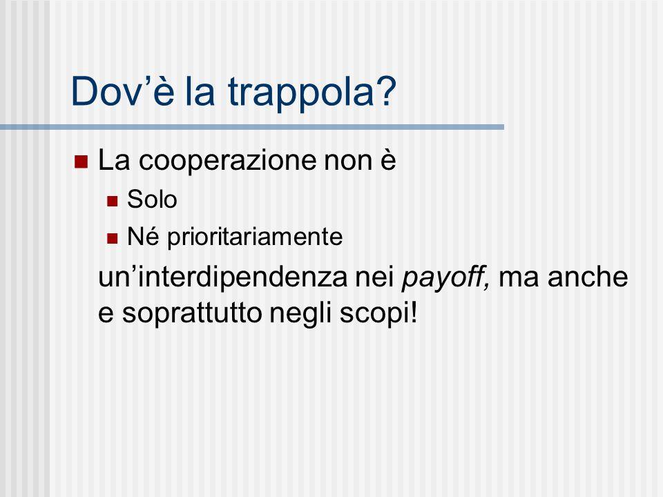 Dov'è la trappola La cooperazione non è