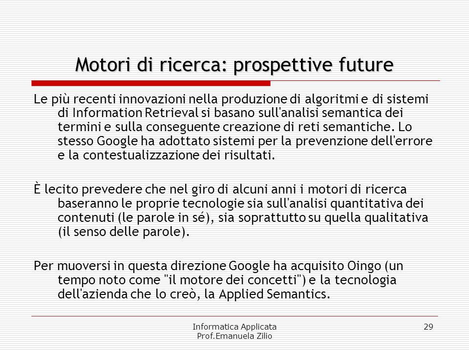 Motori di ricerca: prospettive future