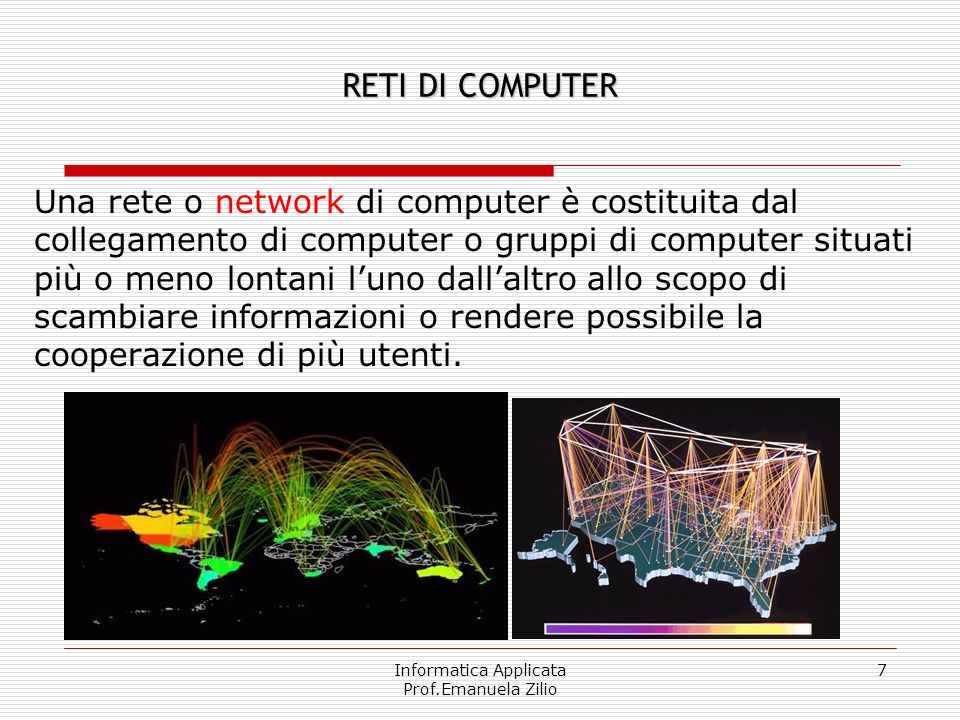 Informatica Applicata Prof.Emanuela Zilio