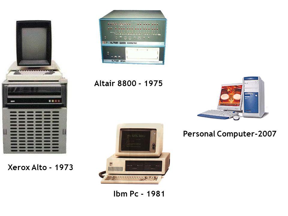 Xerox Alto - 1973 Altair 8800 - 1975 Ibm Pc - 1981 Personal Computer-2007