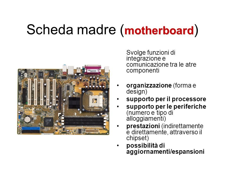 Scheda madre (motherboard)