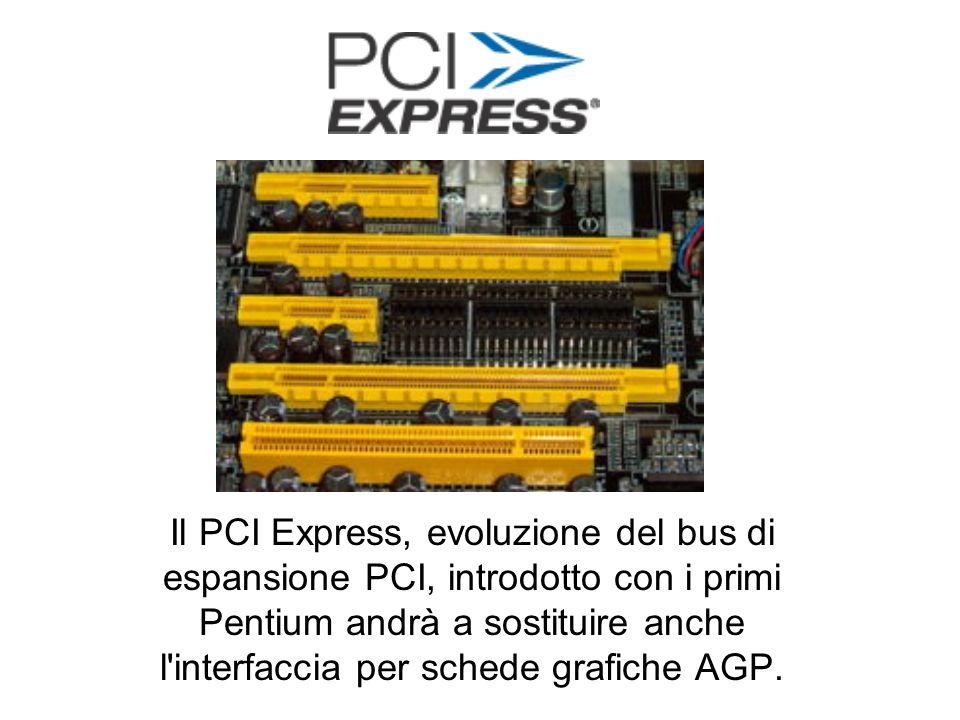Il PCI Express, evoluzione del bus di espansione PCI, introdotto con i primi Pentium andrà a sostituire anche l interfaccia per schede grafiche AGP.