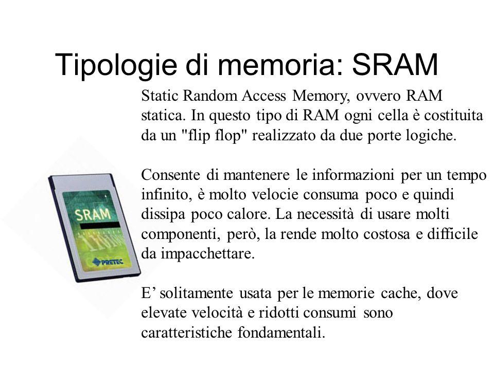 Tipologie di memoria: SRAM