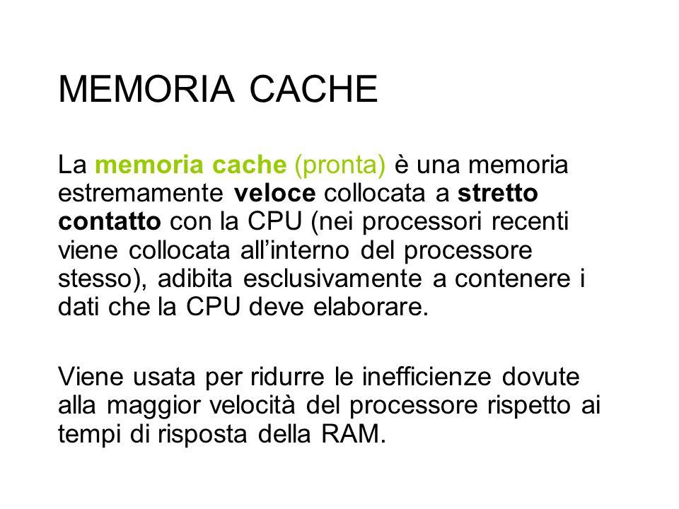 MEMORIA CACHE