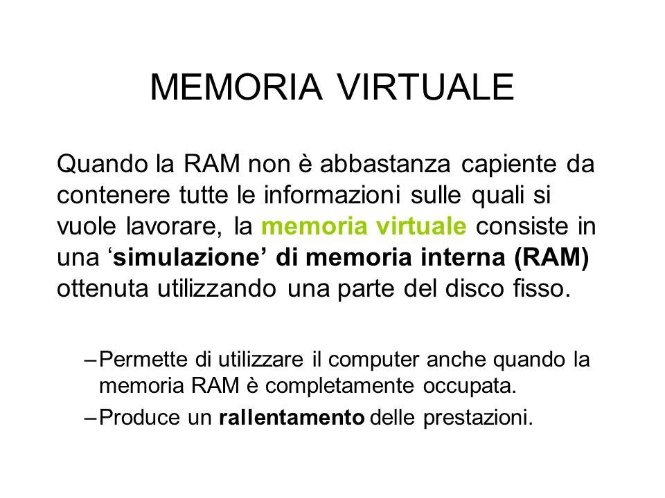 MEMORIA VIRTUALE