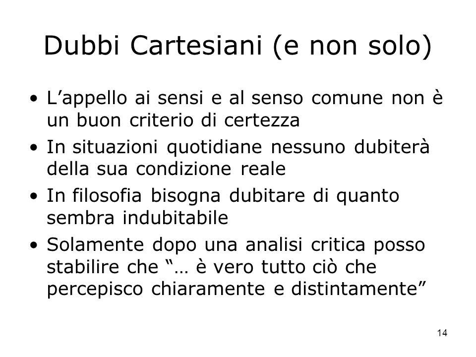 Dubbi Cartesiani (e non solo)