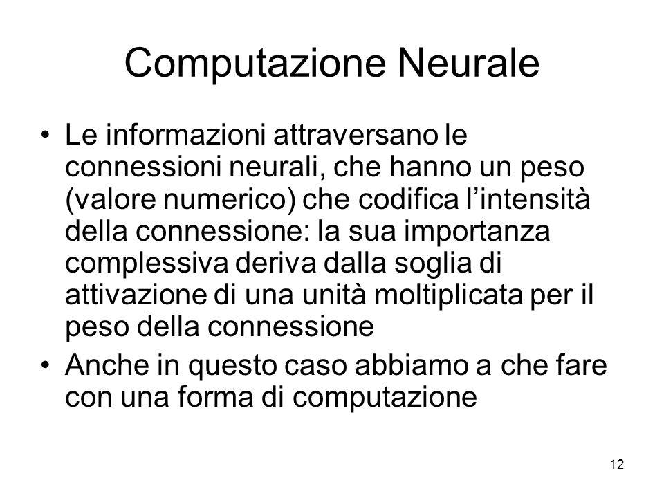 Computazione Neurale