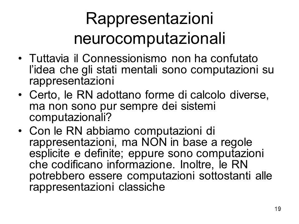 Rappresentazioni neurocomputazionali