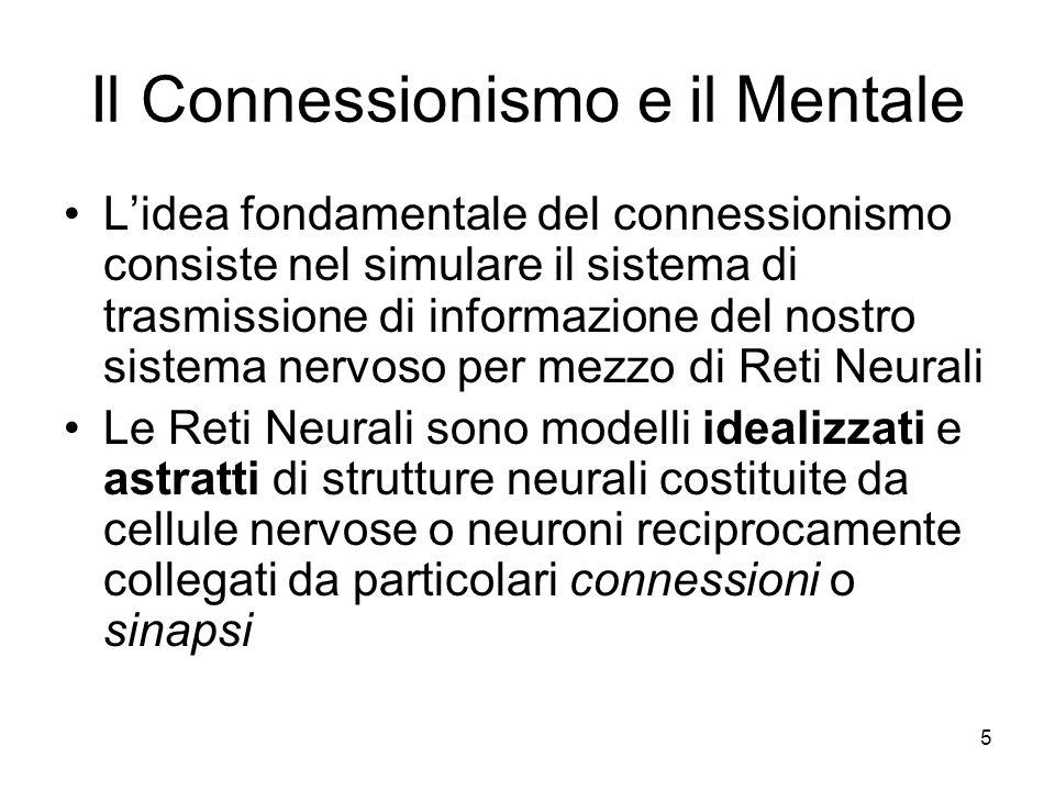 Il Connessionismo e il Mentale