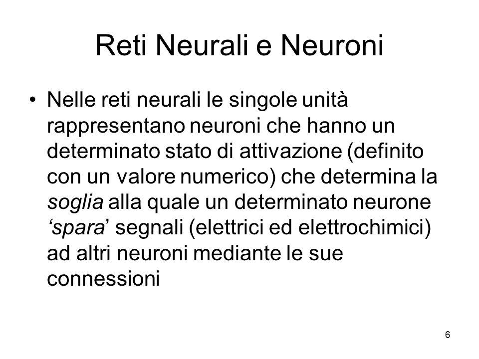 Reti Neurali e Neuroni