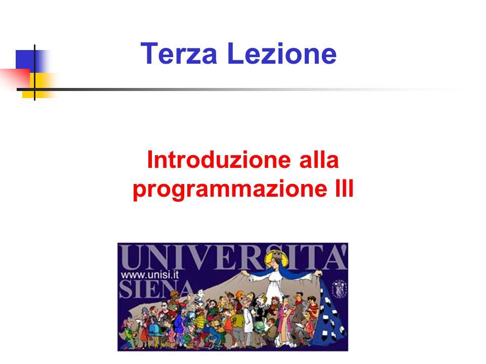 Introduzione alla programmazione lll