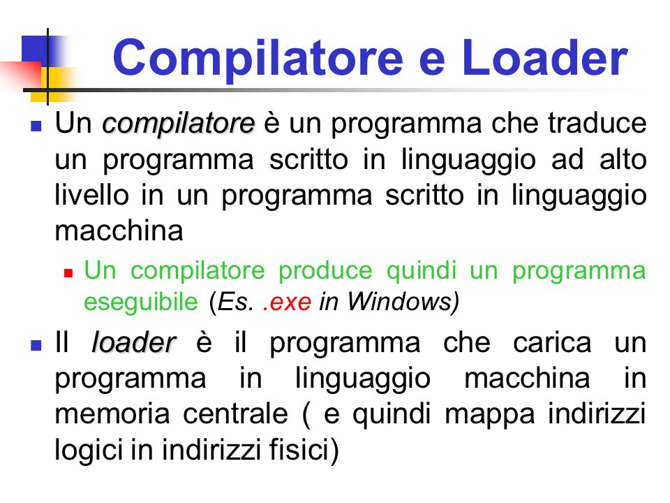Compilatore e Loader