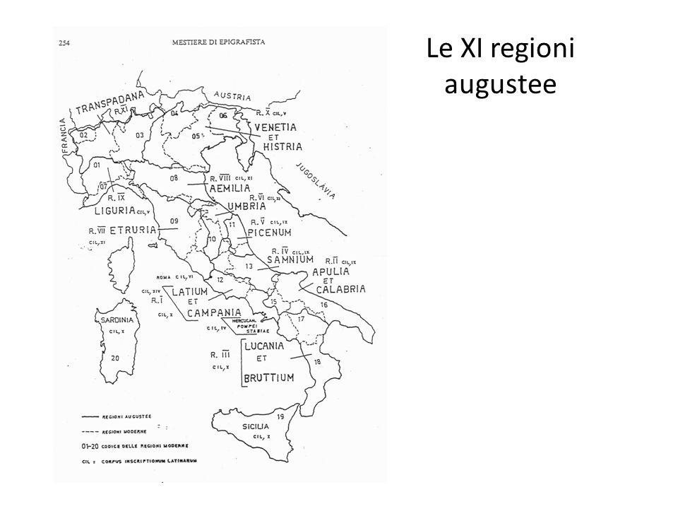 Le XI regioni augustee
