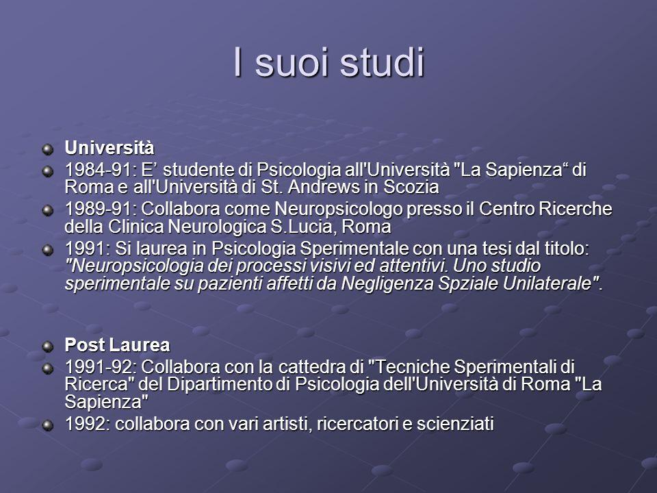 I suoi studi Università
