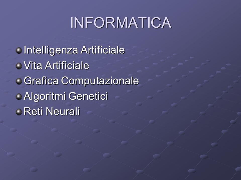 INFORMATICA Intelligenza Artificiale Vita Artificiale