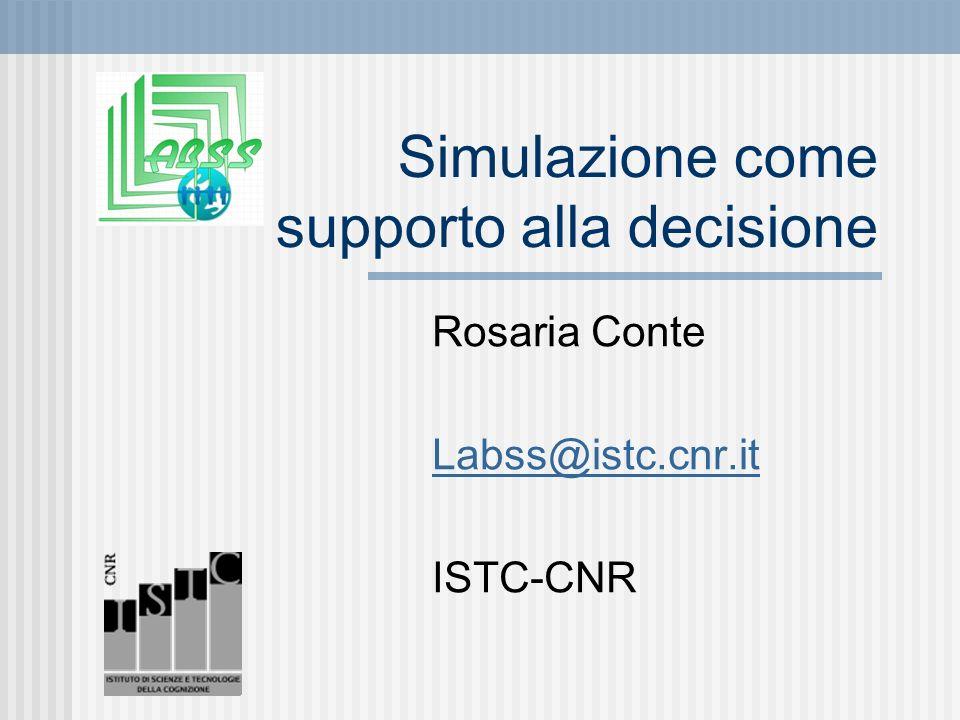 Simulazione come supporto alla decisione