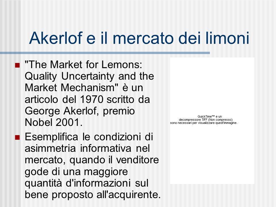 Akerlof e il mercato dei limoni