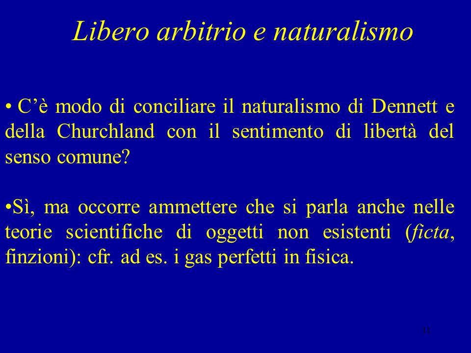 Libero arbitrio e naturalismo