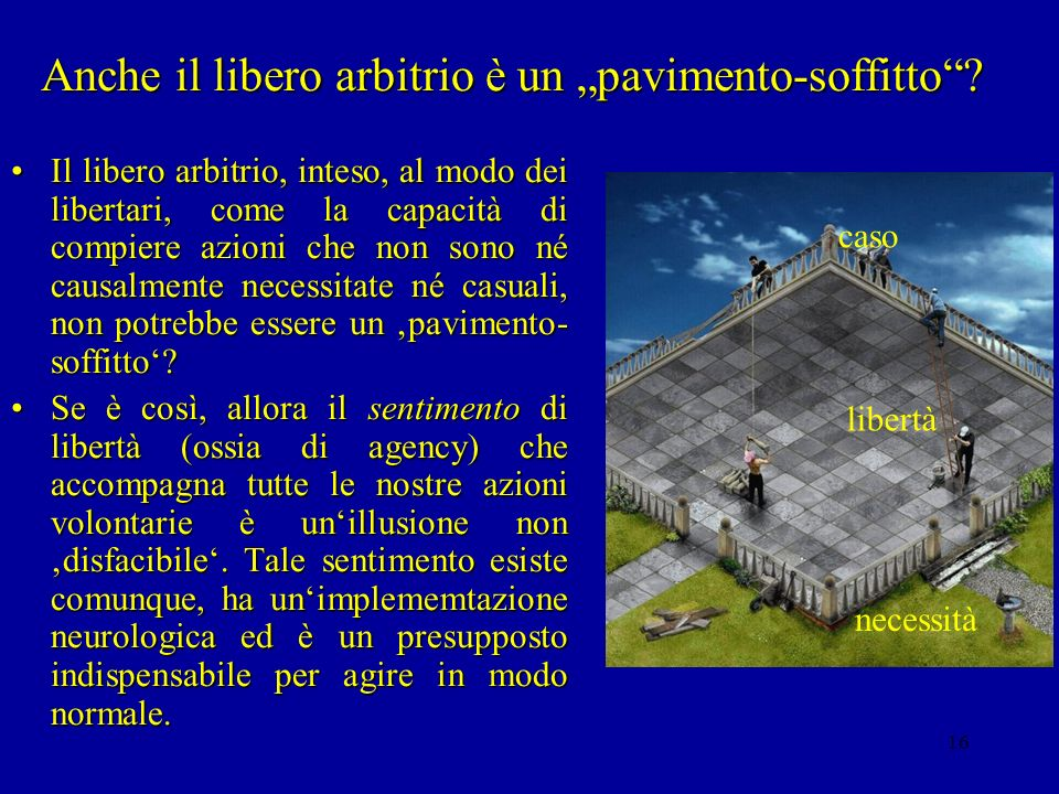 """Anche il libero arbitrio è un """"pavimento-soffitto"""