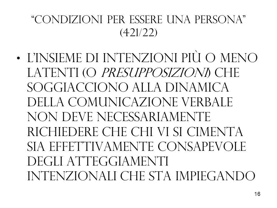 Condizioni per essere una persona (421/22)