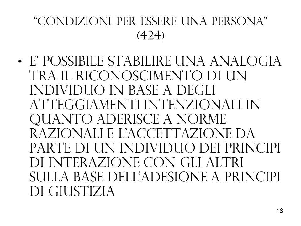 Condizioni per essere una persona (424)