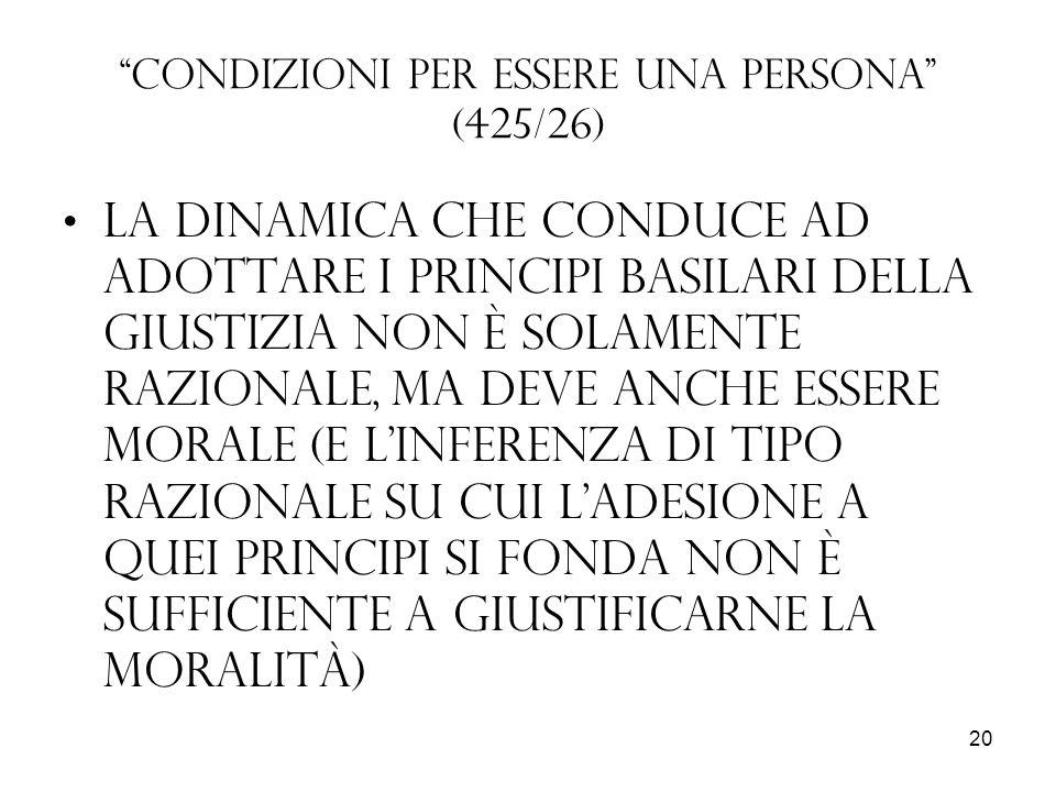 Condizioni per essere una persona (425/26)