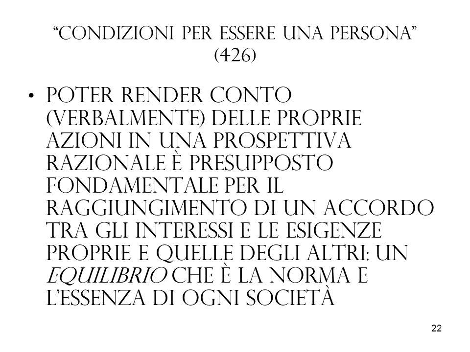 Condizioni per essere una persona (426)