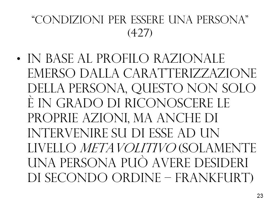 Condizioni per essere una persona (427)