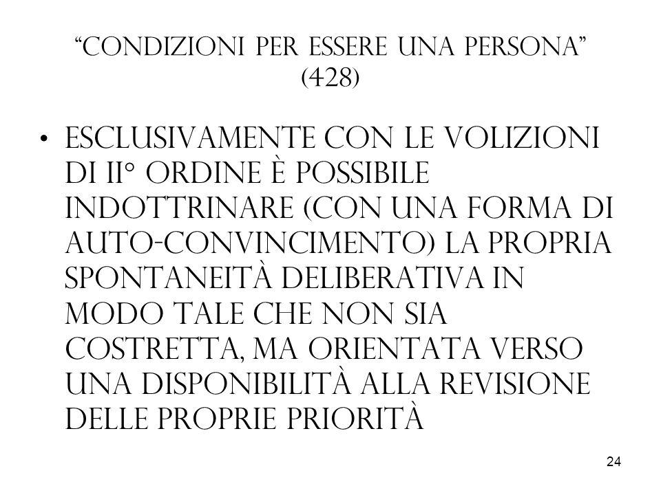 Condizioni per essere una persona (428)