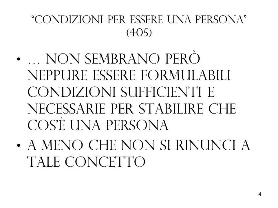 Condizioni per essere una persona (405)