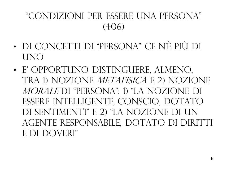 Condizioni per essere una persona (406)