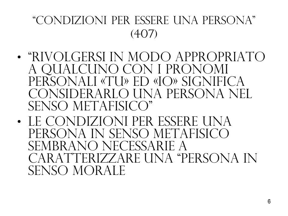 Condizioni per essere una persona (407)