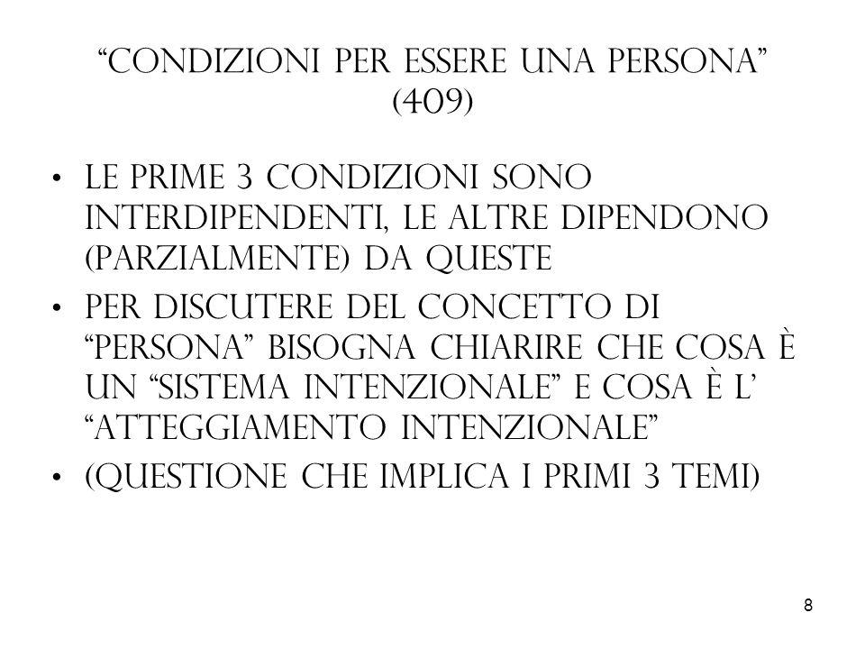 Condizioni per essere una persona (409)