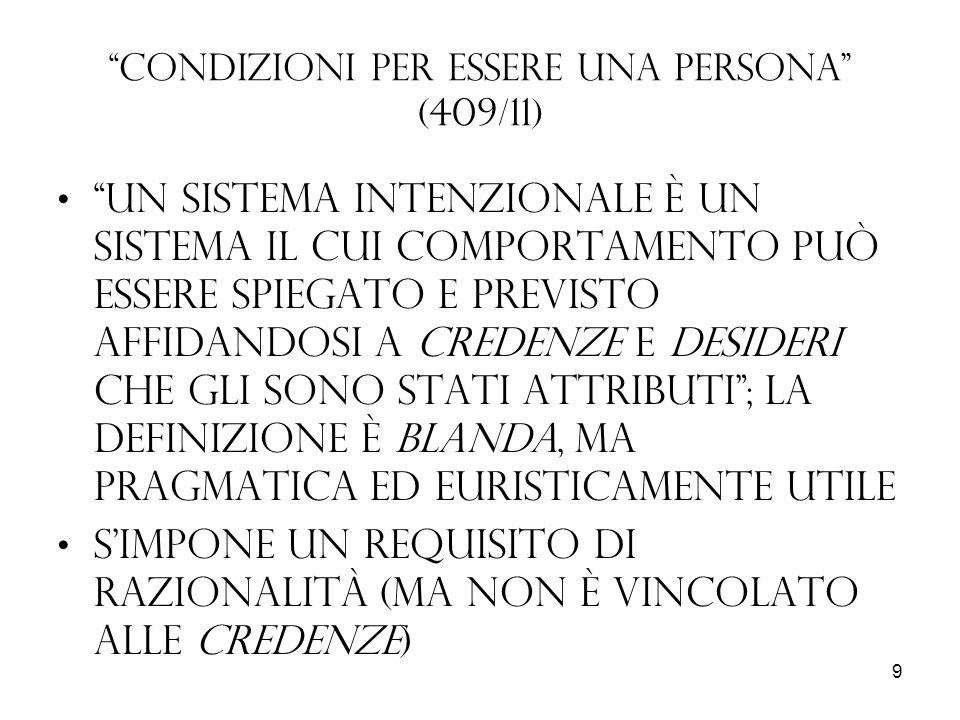 Condizioni per essere una persona (409/11)