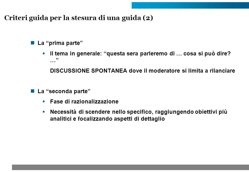 Criteri guida per la stesura di una guida (2)