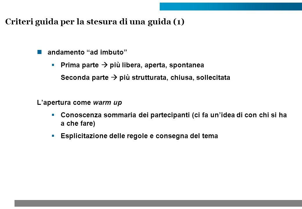Criteri guida per la stesura di una guida (1)