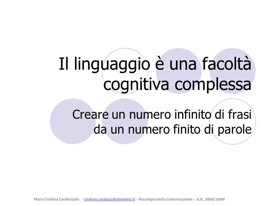 Il linguaggio è una facoltà cognitiva complessa