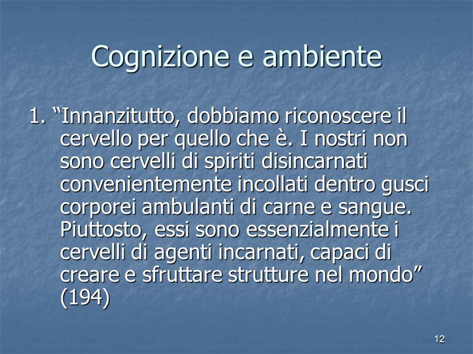 Cognizione e ambiente
