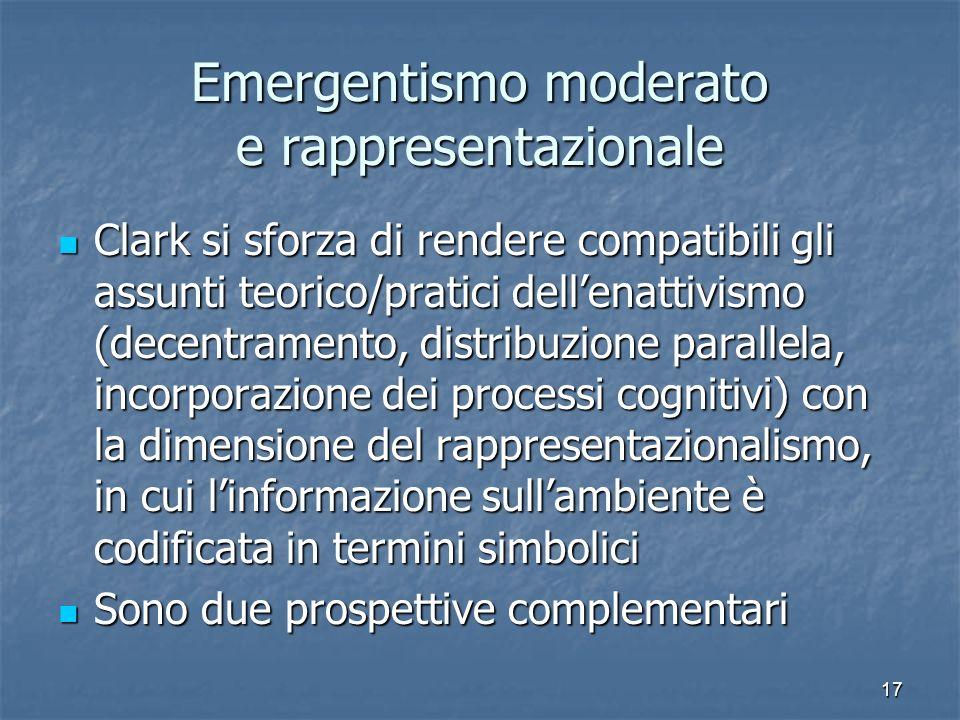 Emergentismo moderato e rappresentazionale