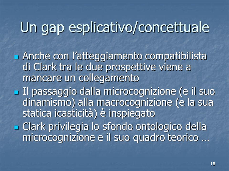 Un gap esplicativo/concettuale