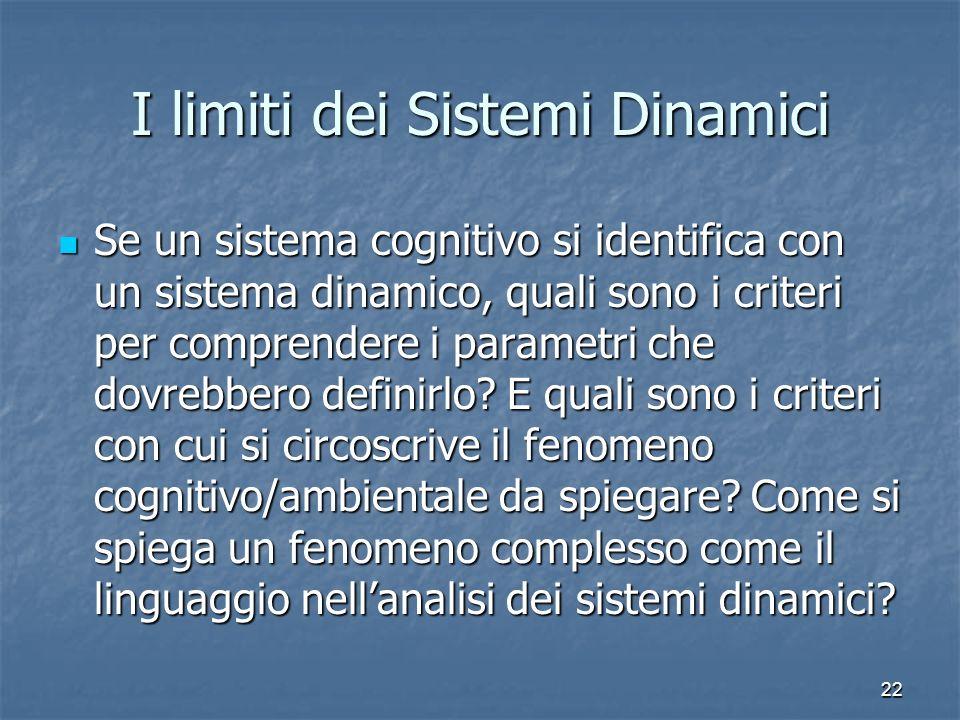 I limiti dei Sistemi Dinamici